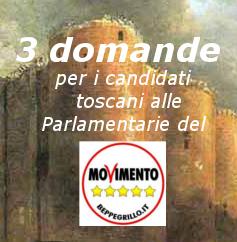 Tre domande ai candidati toscani delle Parlamentarie 5 Stelle